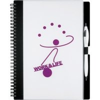Black Accent 7.75 x 10 Large Journal - Custom Logo