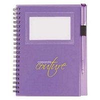 ID Card Spiral Notebook with Pen 5 x 7