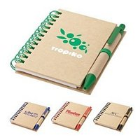 Mini Recycled Notebook & Pen 4 3/4 x 3 3/8