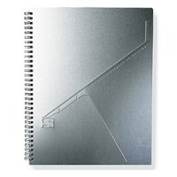 Embossed Aluminum Notebook 8.5 X 11