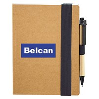 Handsome Thick Elastic Bound Custom Notebook & Pen