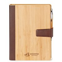 Bamboo Refillable Journal 9 x 7-1/16 -Eco Custom Notebook