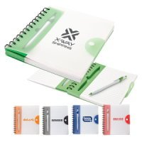 2 Tone Snap Cover Junior Notebook Pen Set