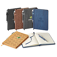 Wood Grain Textured Notebook / Pen Combos