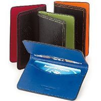 Colored Leather Card Holders
