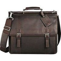 Kenneth Cole Leather Dowel Compu Case -Executive Gift