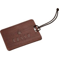 Faux Wood Grain Luggage Tags