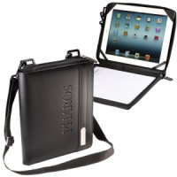Bonded Leather iPad/Tablet Folio with Strap