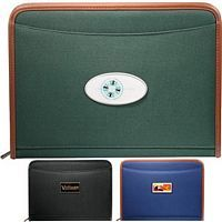 Classic Cloth Zippered Padfolio
