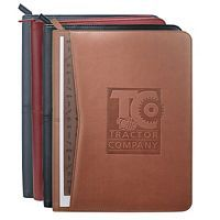 Zippered Padfolios with Contrasting Debossed Logo