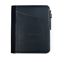 Automobile Zippered Leather Padfolio