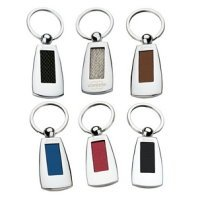 Color Leather Insert Keychain