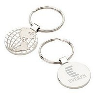 Two-Tone Globe Keyring