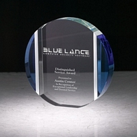 Blue and Aluminum Edged Disc