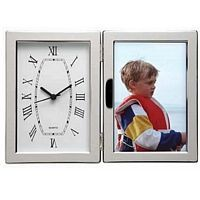 Hinged Clock 4x6 Photo Frame