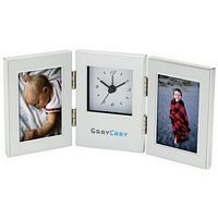 Double Picture Frames & Hinged Clock