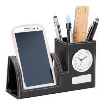 Clock, Phone Holder Pen Cup