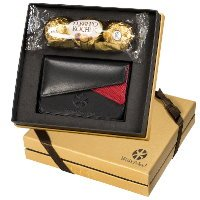 Ferrero Rocher Chocolates Leather Card Case Gift Set