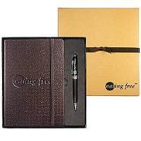 Textured Journal with Executive Stylus Pen Set