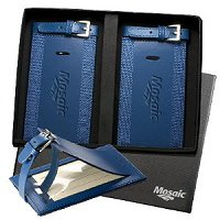 Acccent Leather Luggage Tag Set