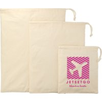 3 Piece Cotton Travel Pouches