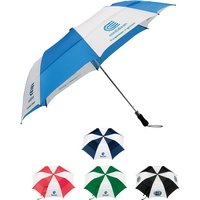 58 Gentle Foam Handle Vented Folding Custom Umbrella