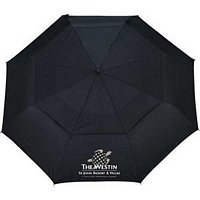 46 Woodgrain Handle Auto Open/Close Vented Custom Umbrella