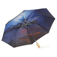 46 Night Sky Auto Open Folding Umbrella