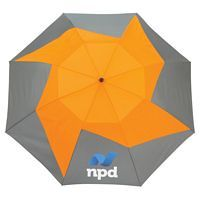 46 Vented, Auto Open Folding PinWheel Umbrella