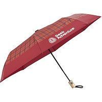Recycled Plaid Auto Open Compact Umbrellas